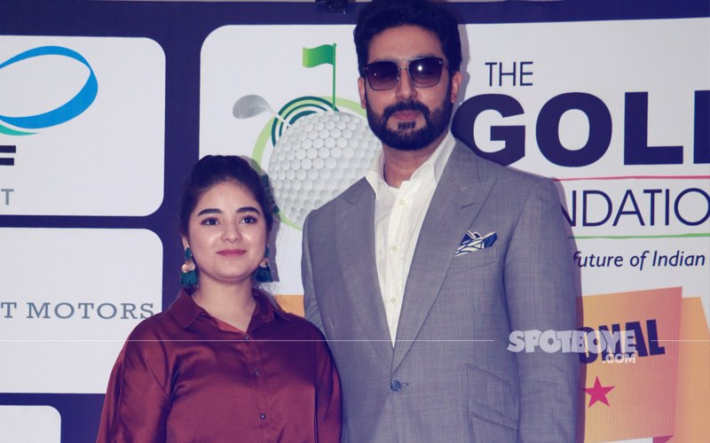 Zaira Wasim & Abhishek Bachchan Attend Pro-Am Golf Championship Event