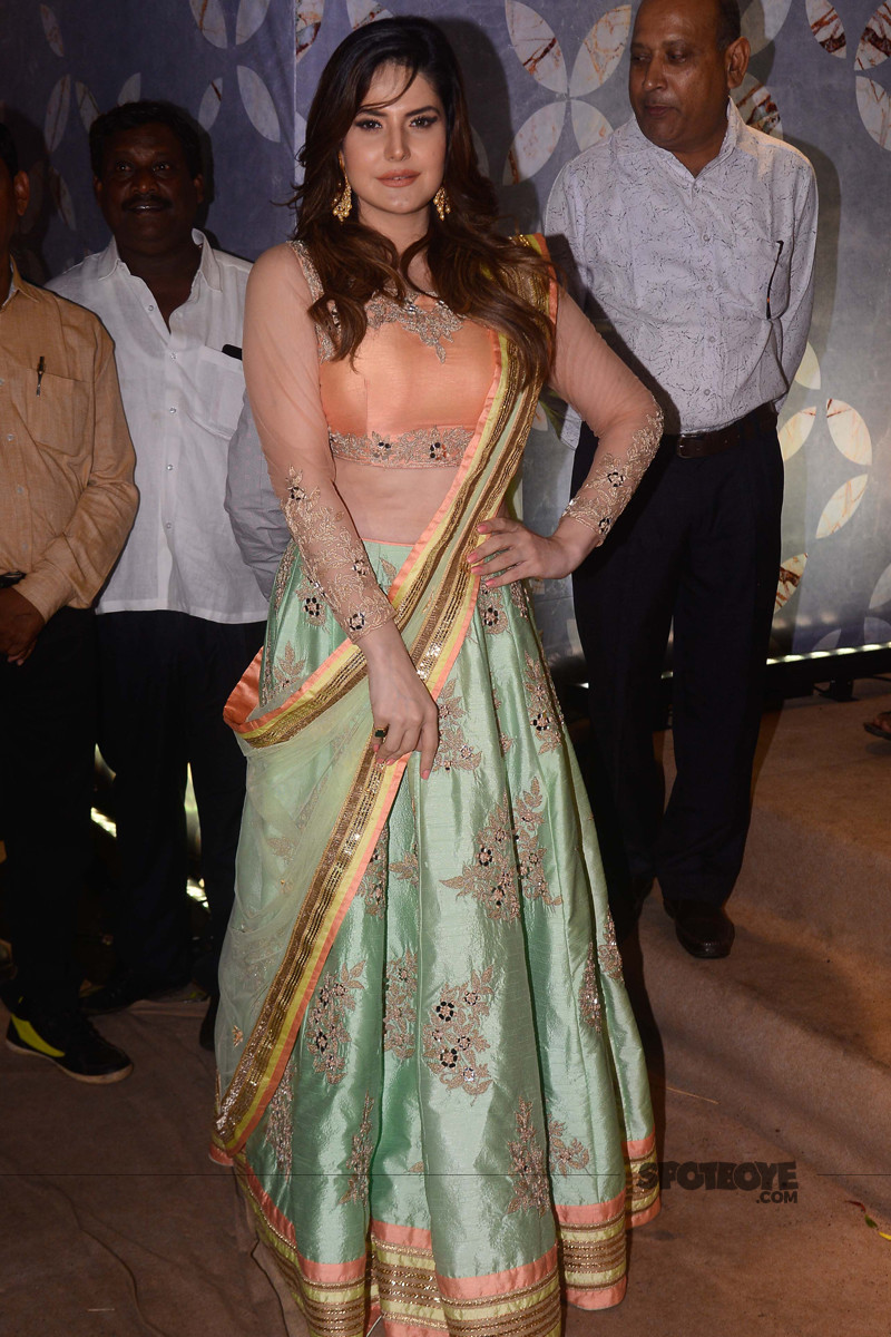zareen khan at poorna patel reception