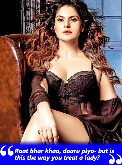 zareen khan speaks up about the way she was treated