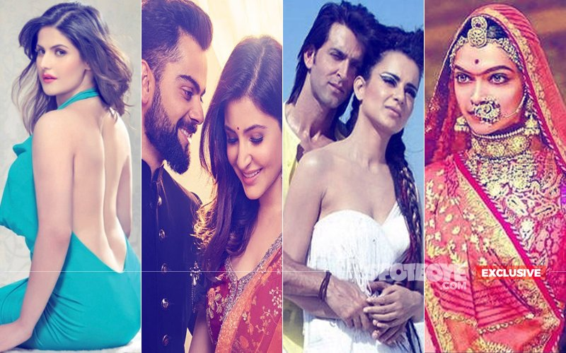 Virat Kohli-Anushka Sharma, Padmavati, Kangana Ranaut-Hrithik Roshan, Zareen Khan --- The Newsmakers Of 2017