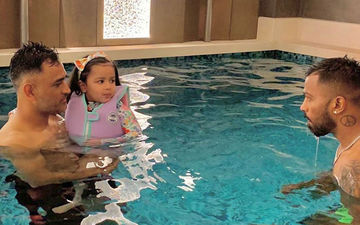 Ziva Singh Dhoni Aka 'Baby Shark' Is Having The Best Pool Party With Her Daddy MS Dhoni And Hardik Pandya